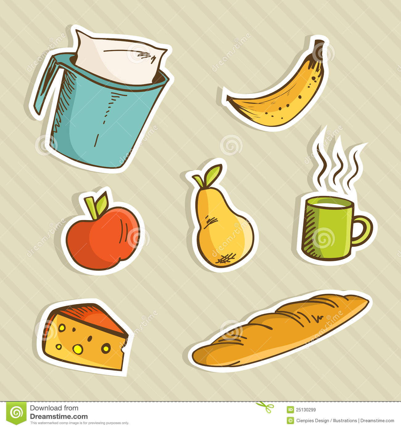 Healthy Cartoon Food Royalty Free Stock Images Image