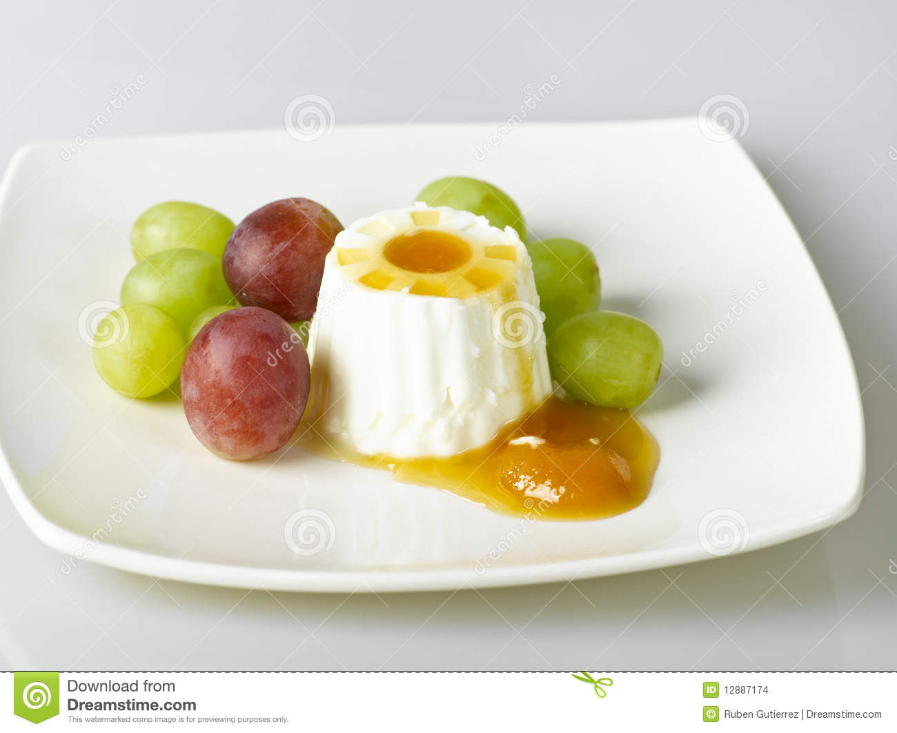 Healthy Cheese And Fruit Dessert Stock Images Image