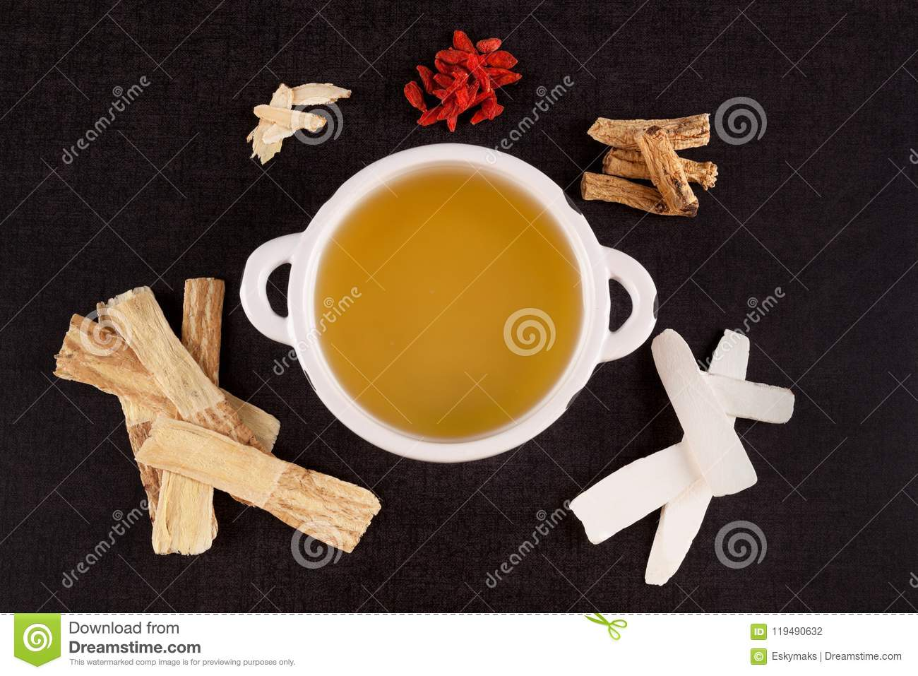 Healthy Chinese Herbal Clear Soup Stock Photo Image Of Above