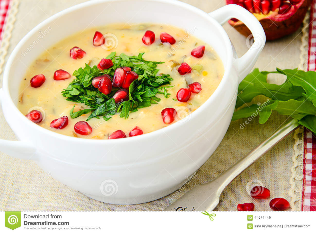 Healthy and Diet Food: Soup of Fish with