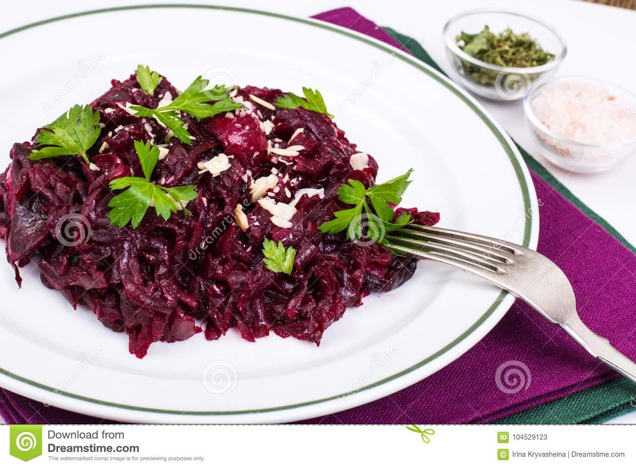 Healthy diet. Salad with beets