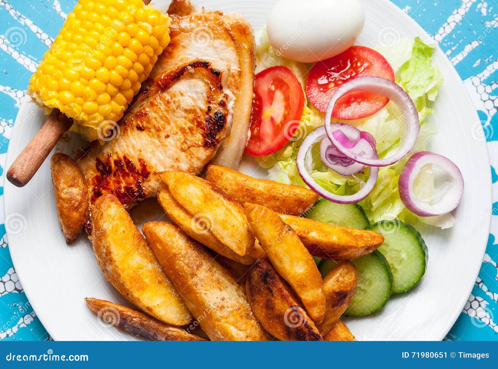 Download Healthy Dinner Stock Image Of Grain Potato
