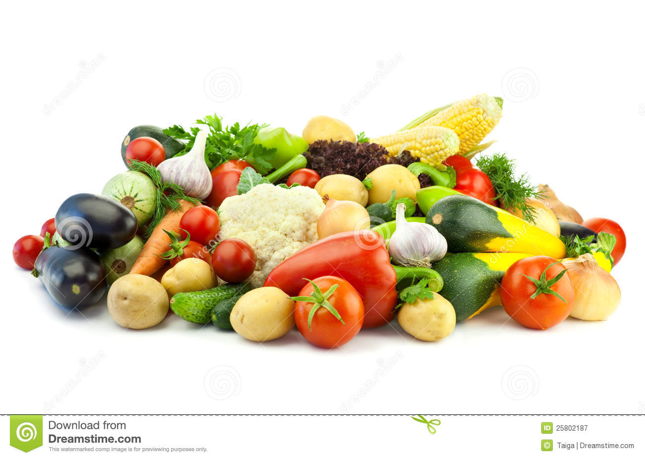 Healthy Eating / Assortment of Organic Vegetables