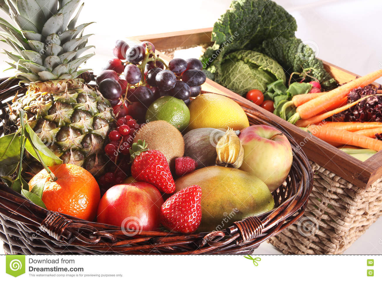 Healthy Eating Background Food Photography Different Fruits And Vegetables Isolated White Background Stock Photo Image Of Fresh Lots 79542508