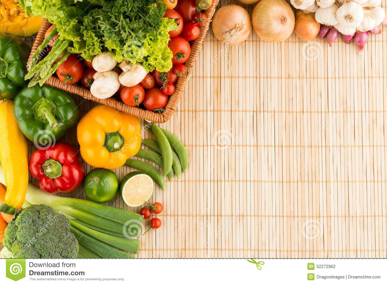 Healthy Eating Background Stock Photo Image 52272962