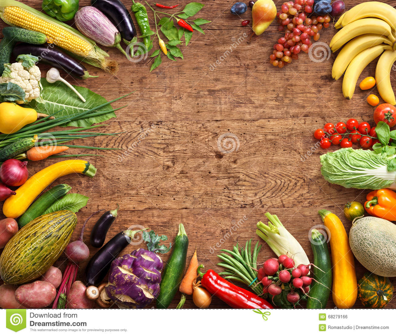 Healthy eating background. Studio photo of different fruits and vegetables