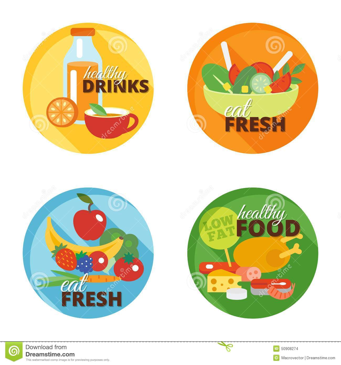 Healthy eating flat icon stock vector. Image of green ...