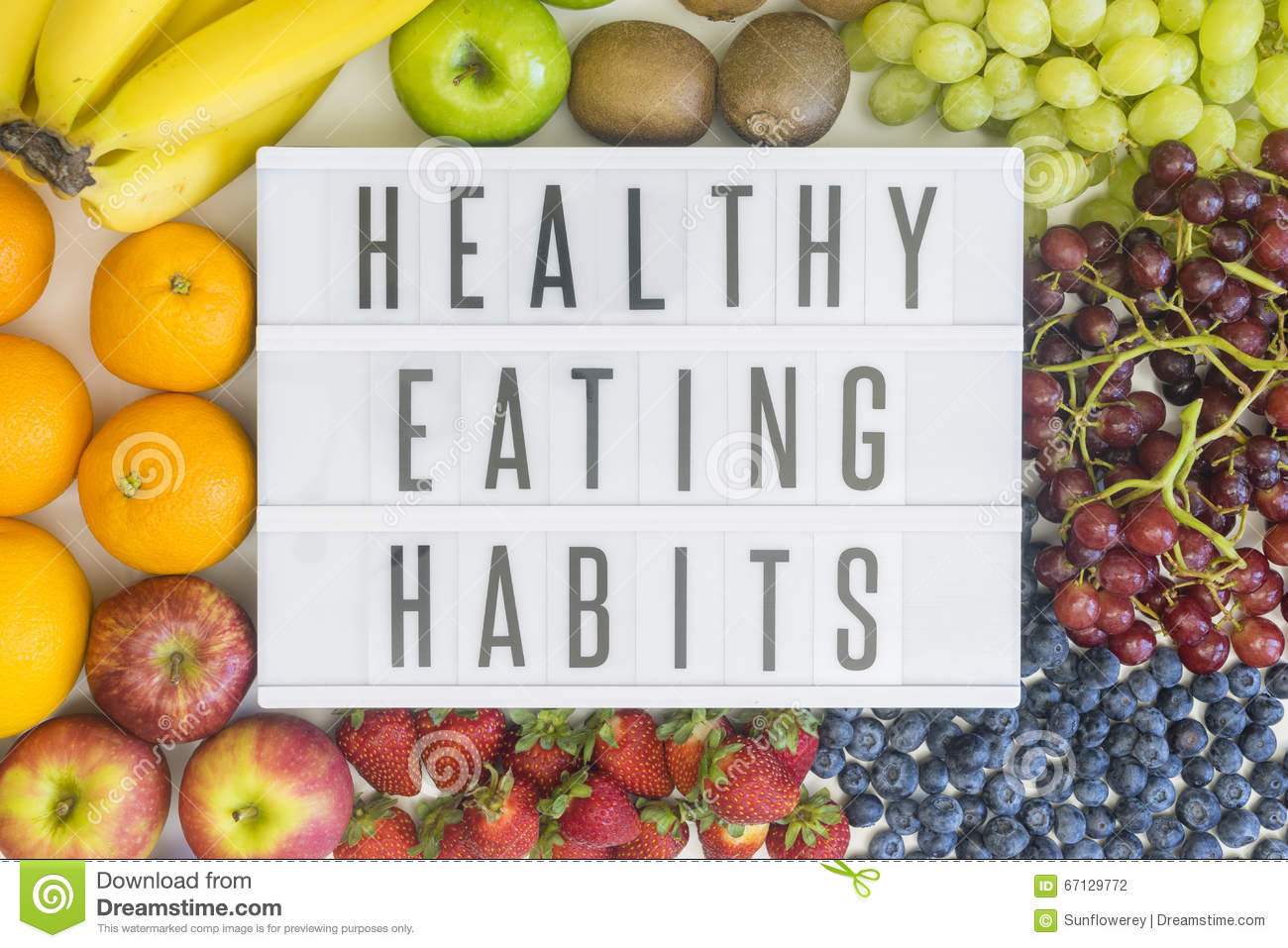 Healthy Habits Background Concept Glowing Royalty Free