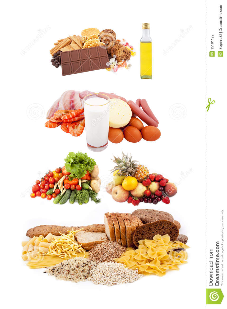 Healthy eating pyramid stock photo. Image of fattening