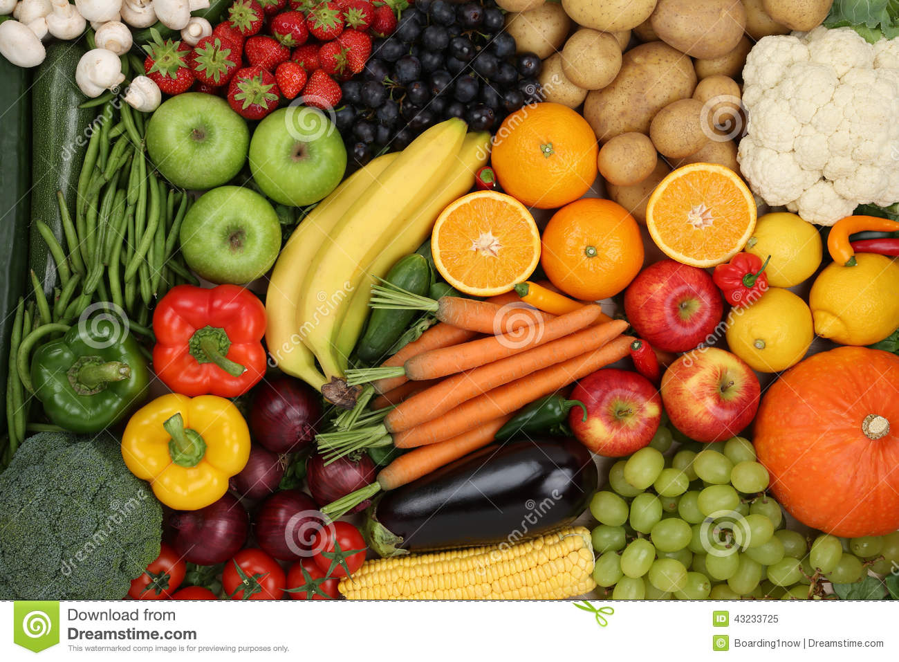 pictures of healthy fruits and vegetables