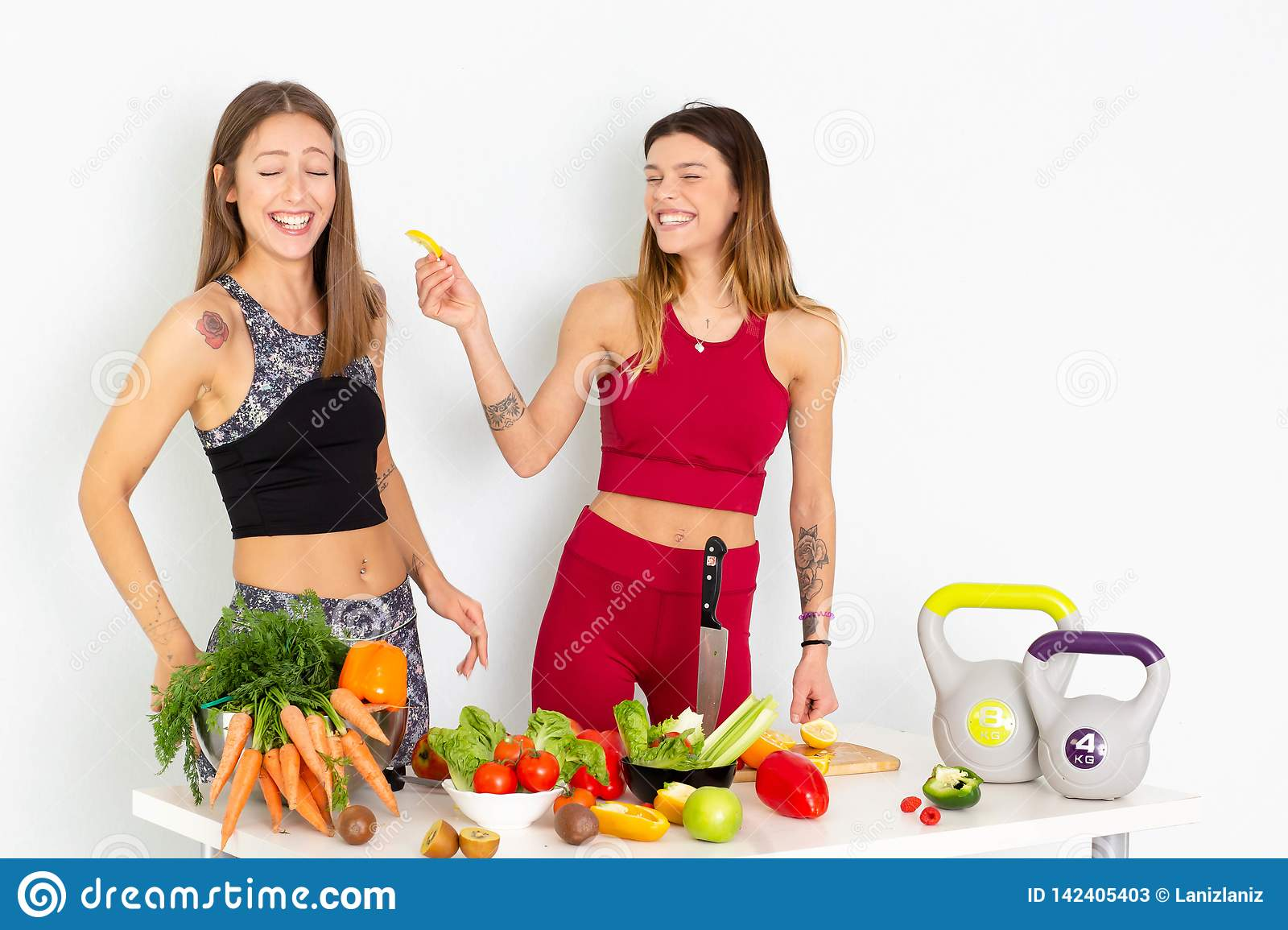 Healthy Eating Women Cooking Salad Beautiful Smiling Vegan Girls Going To Eat Fresh Green Organic Vegetables In Kitchen Happy Pe Stock Image Image Of Athletic Healthy 142405403 Eat better and exercise smarter. https www dreamstime com healthy eating women cooking salad beautiful smiling vegan girls going to eat fresh green organic vegetables kitchen happy pe image142405403