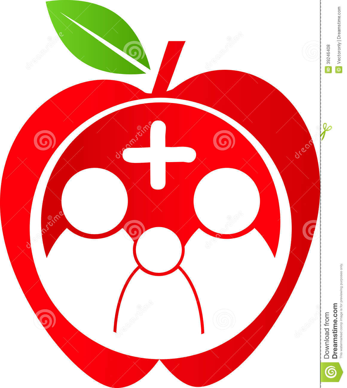 Clipart Vector of Healthy Family Icon - An image of a growing ...