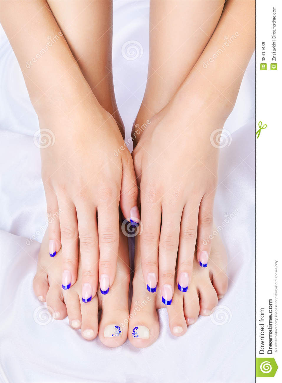 Body part shot of beautiful healthy young woman s hands and legs with