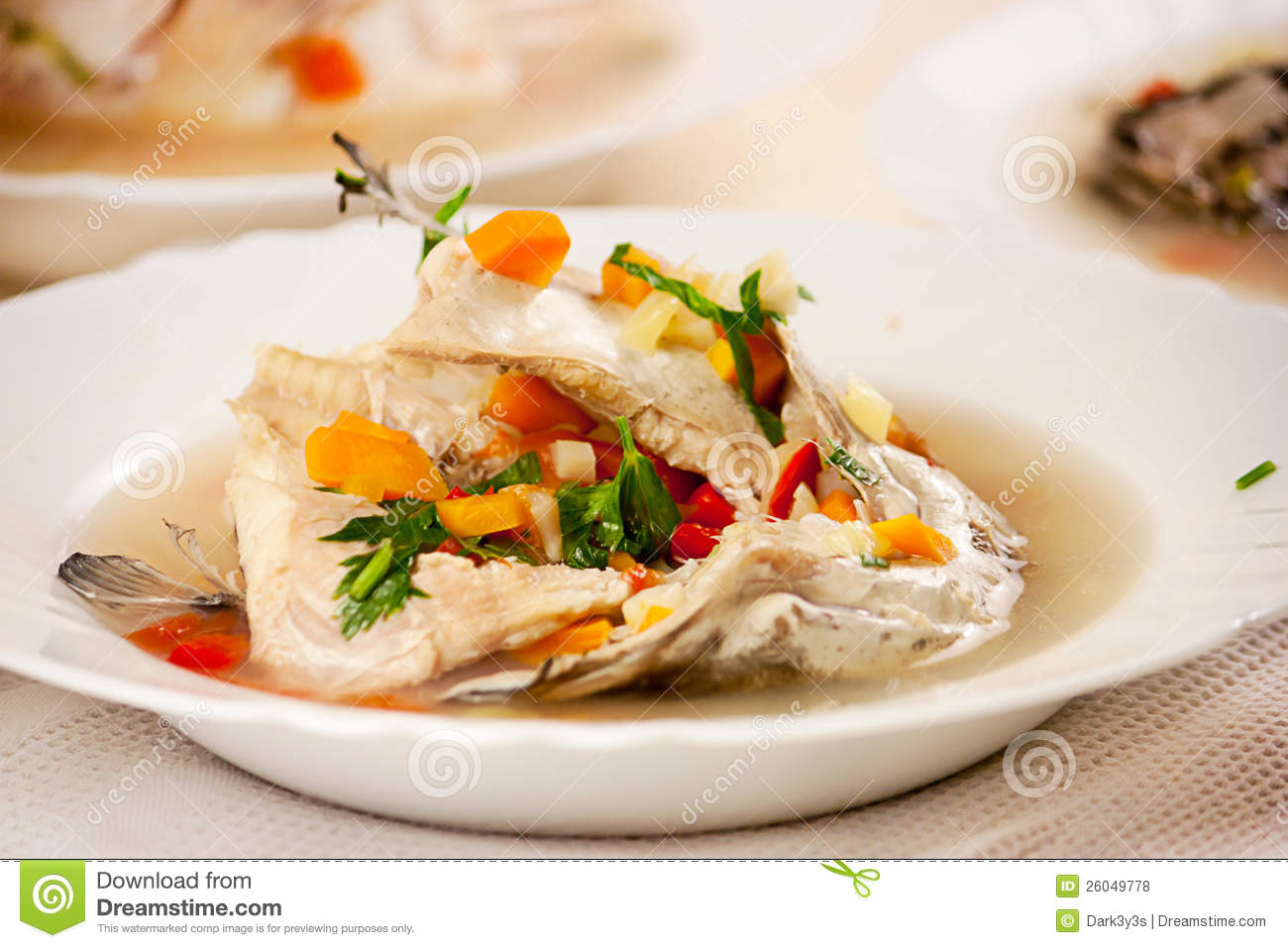 healthy fish soup royalty free stock photos image 26049778