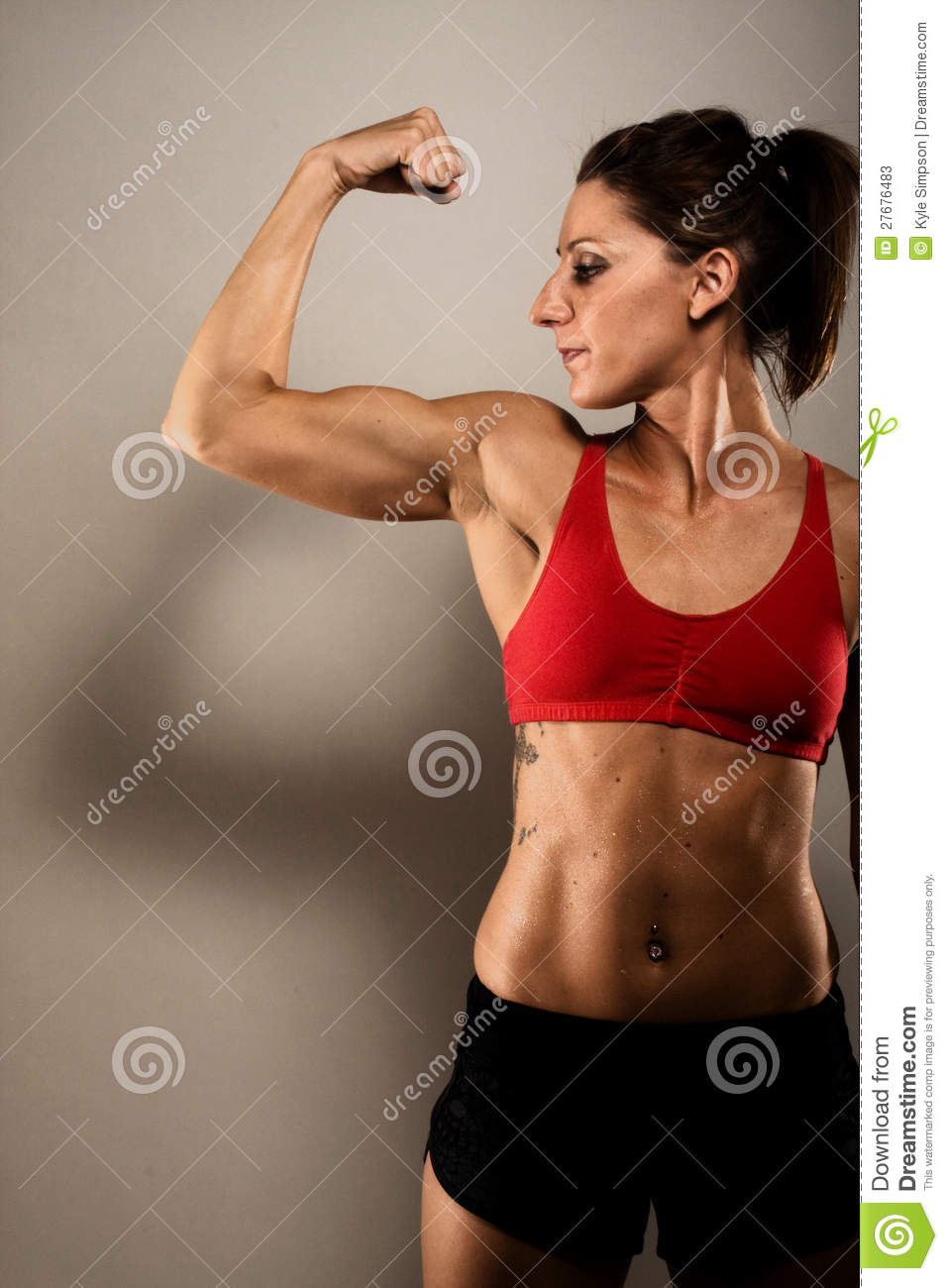Healthy Fitness Woman Flexing Stock Image Image Of Happy Athlete 27676483 Confessions of a healthy food blogger! dreamstime com