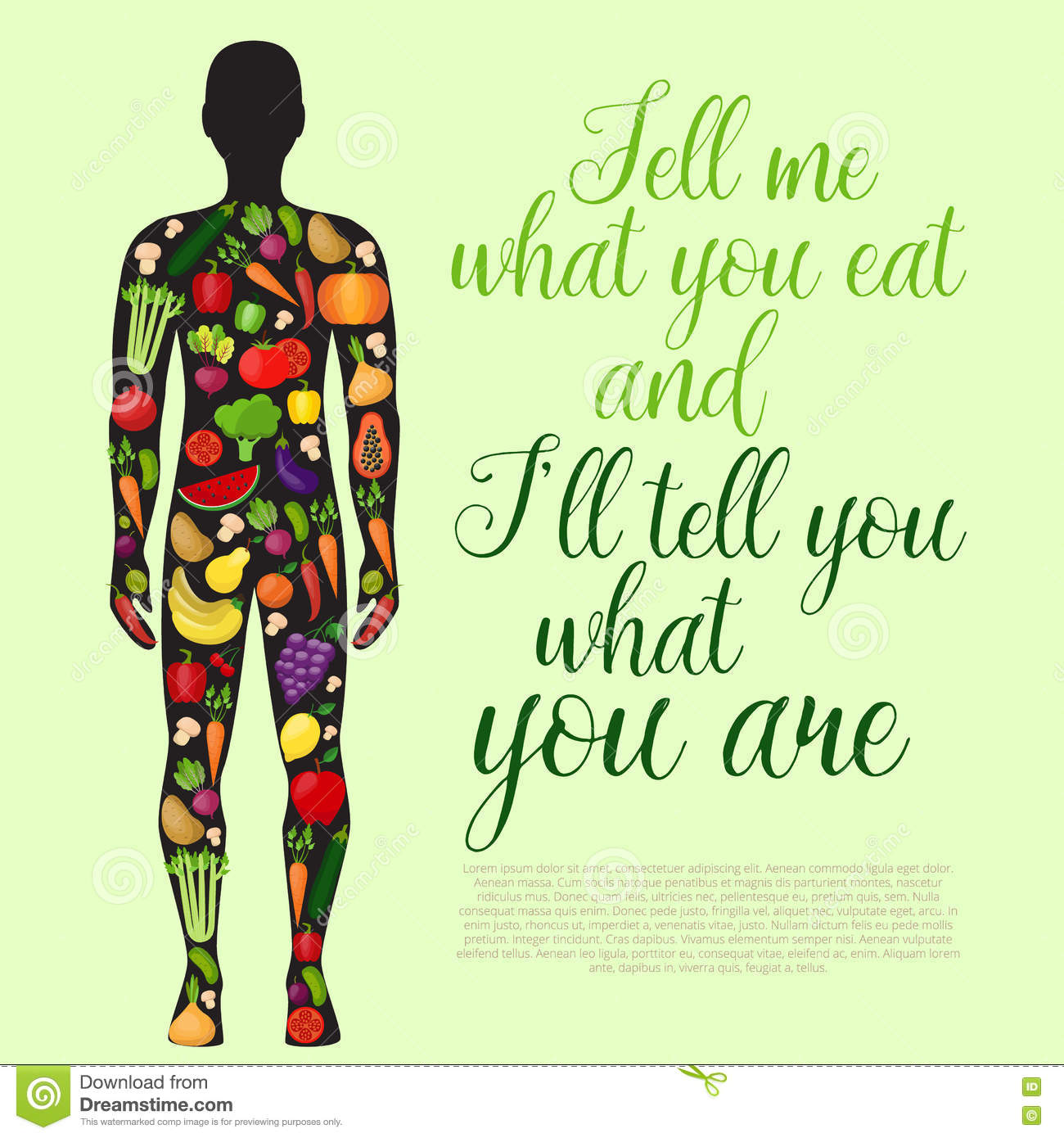 Healthy Food Background  Healthy Lifestyle  People And