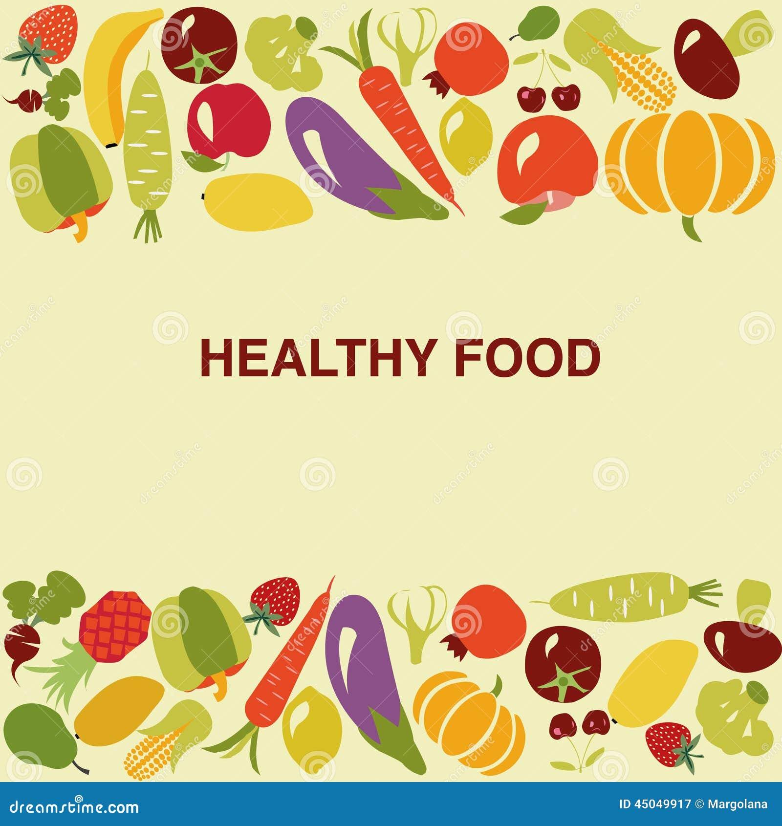 Healthy Food Background Illustration Stock Vector Illustration Of Eggplant Nature 45049917
