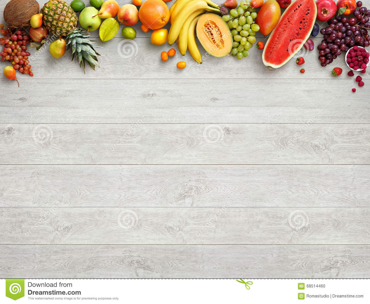 Healthy food background. Studio photo of different fruits