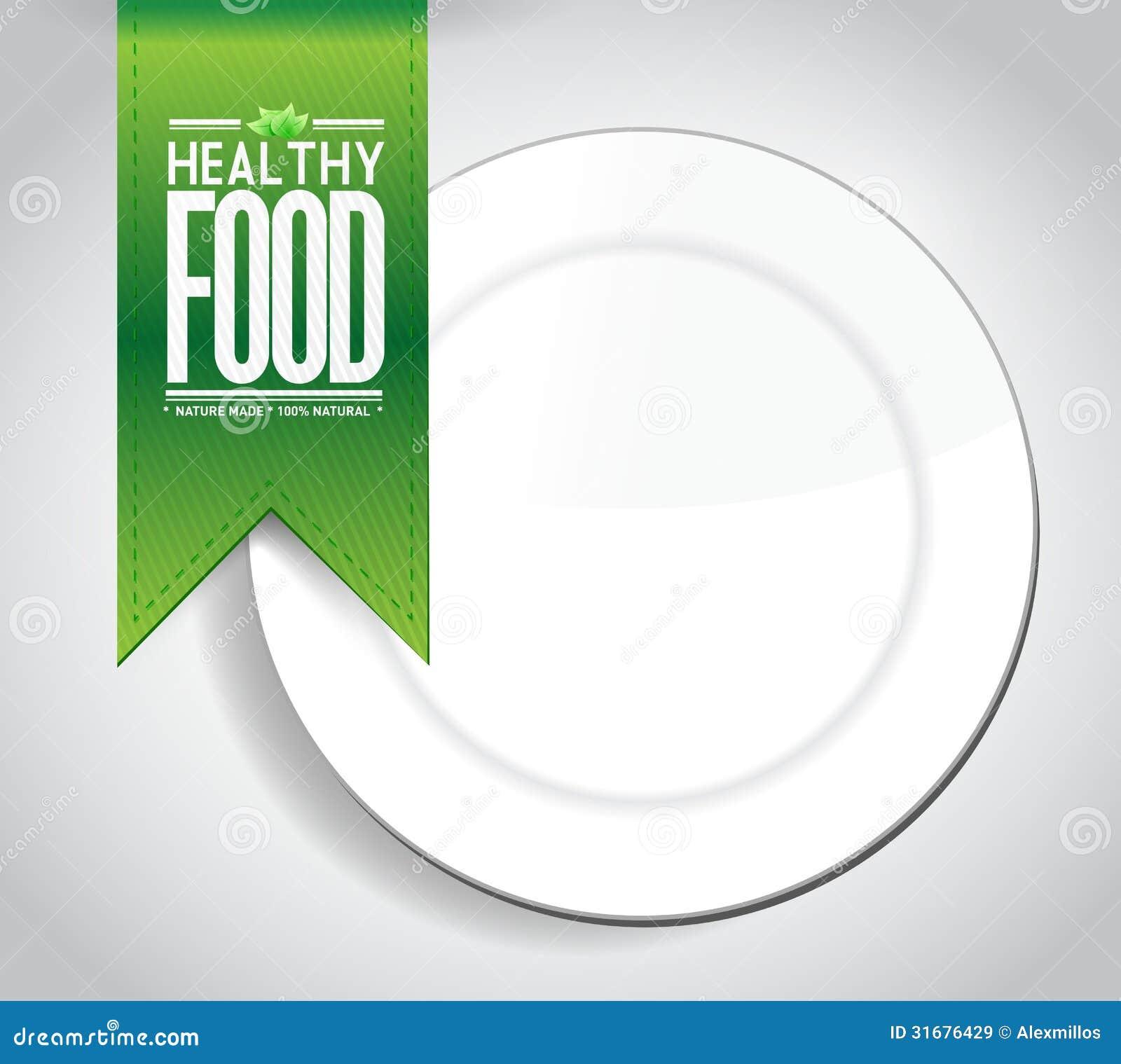 Healthy Food Banner Concept Illustration Design Royalty