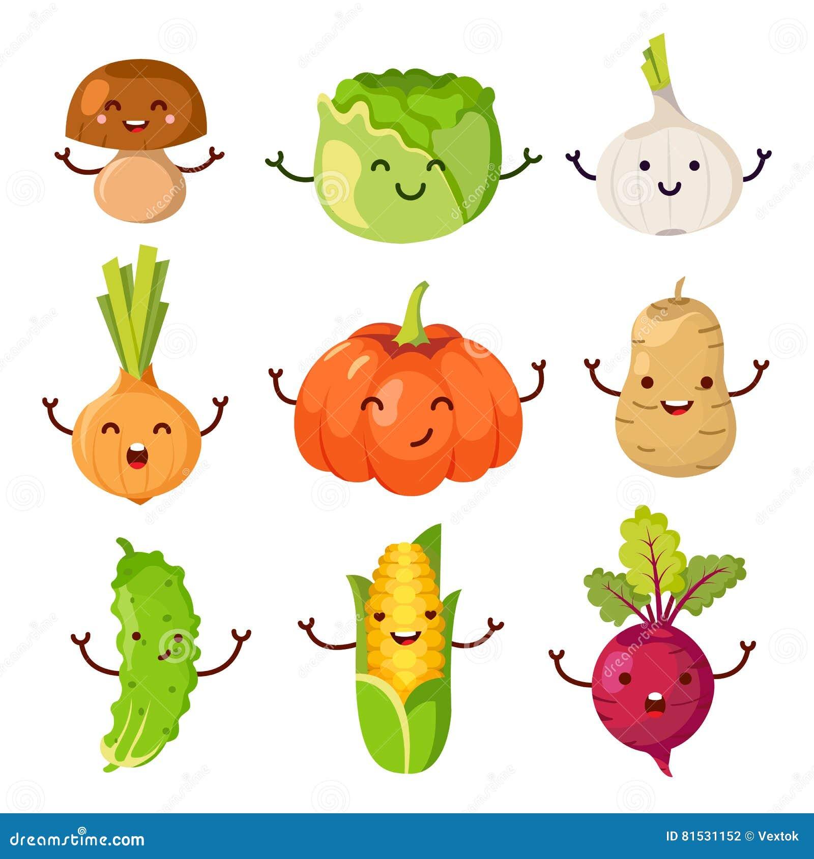 Healthy Food Cartoon Representing Set Stock Vector