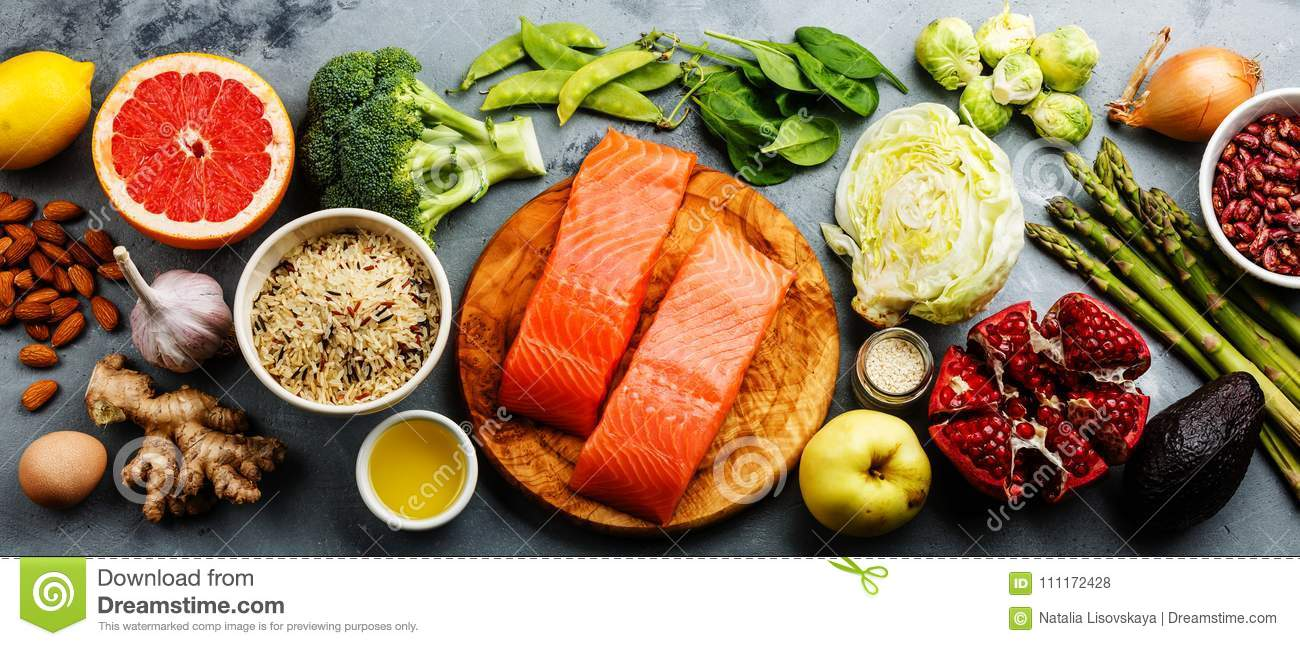 dd7e164aaa88 Healthy Food Clean Eating Selection  Fish