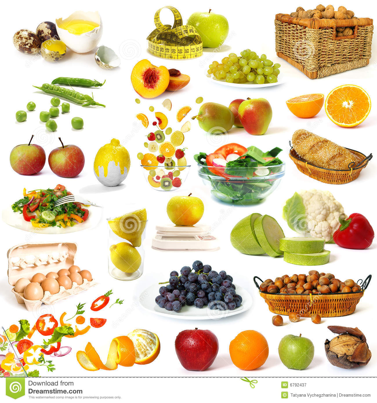 Healthy Food Collection Royalty Free Stock Photography ...