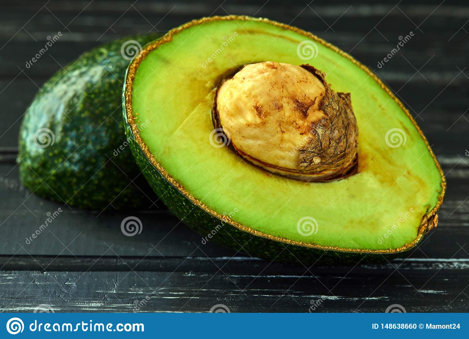 Healthy food concept, fresh avocado
