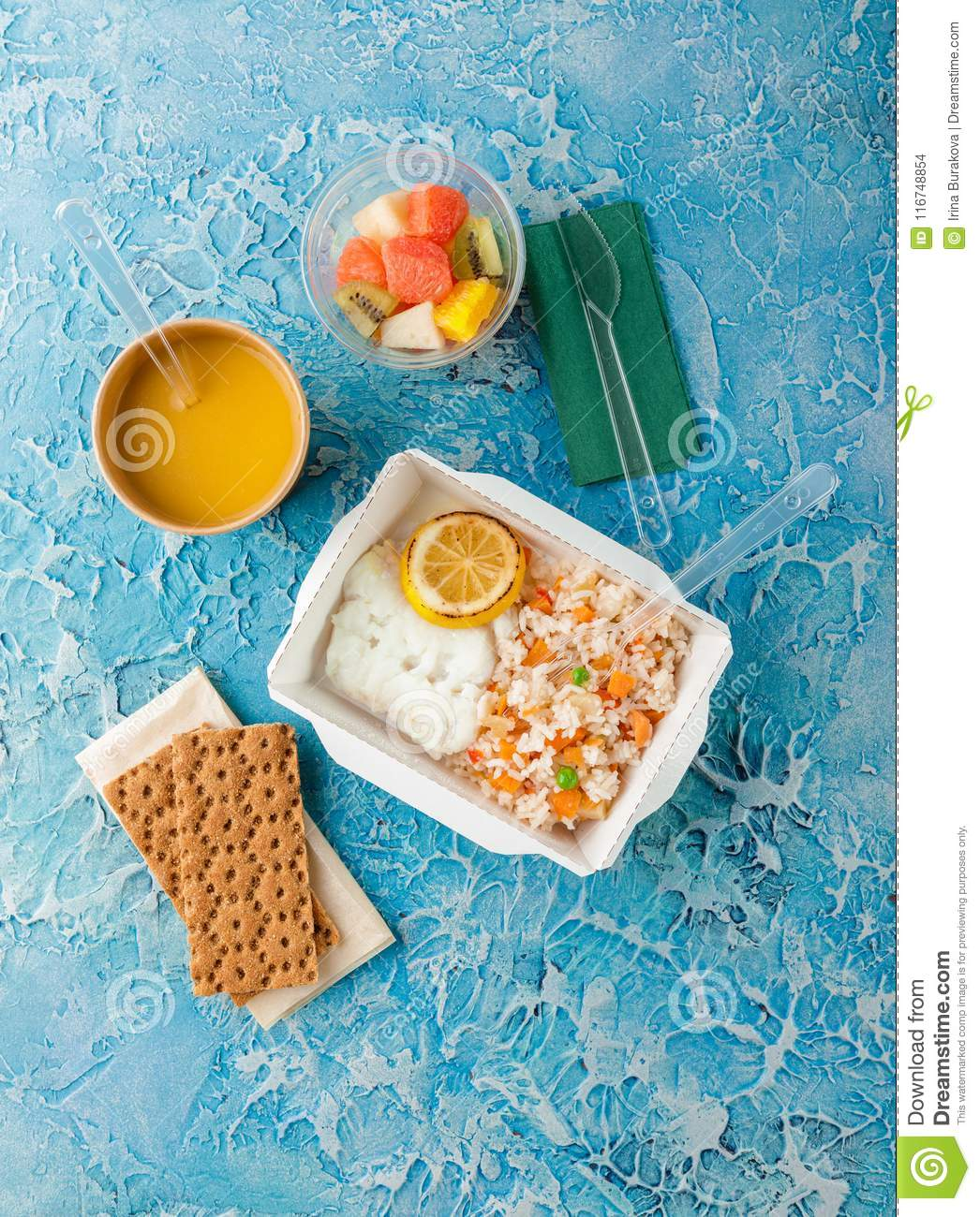 Healthy food delivery  stock photo  Image of food, delicious