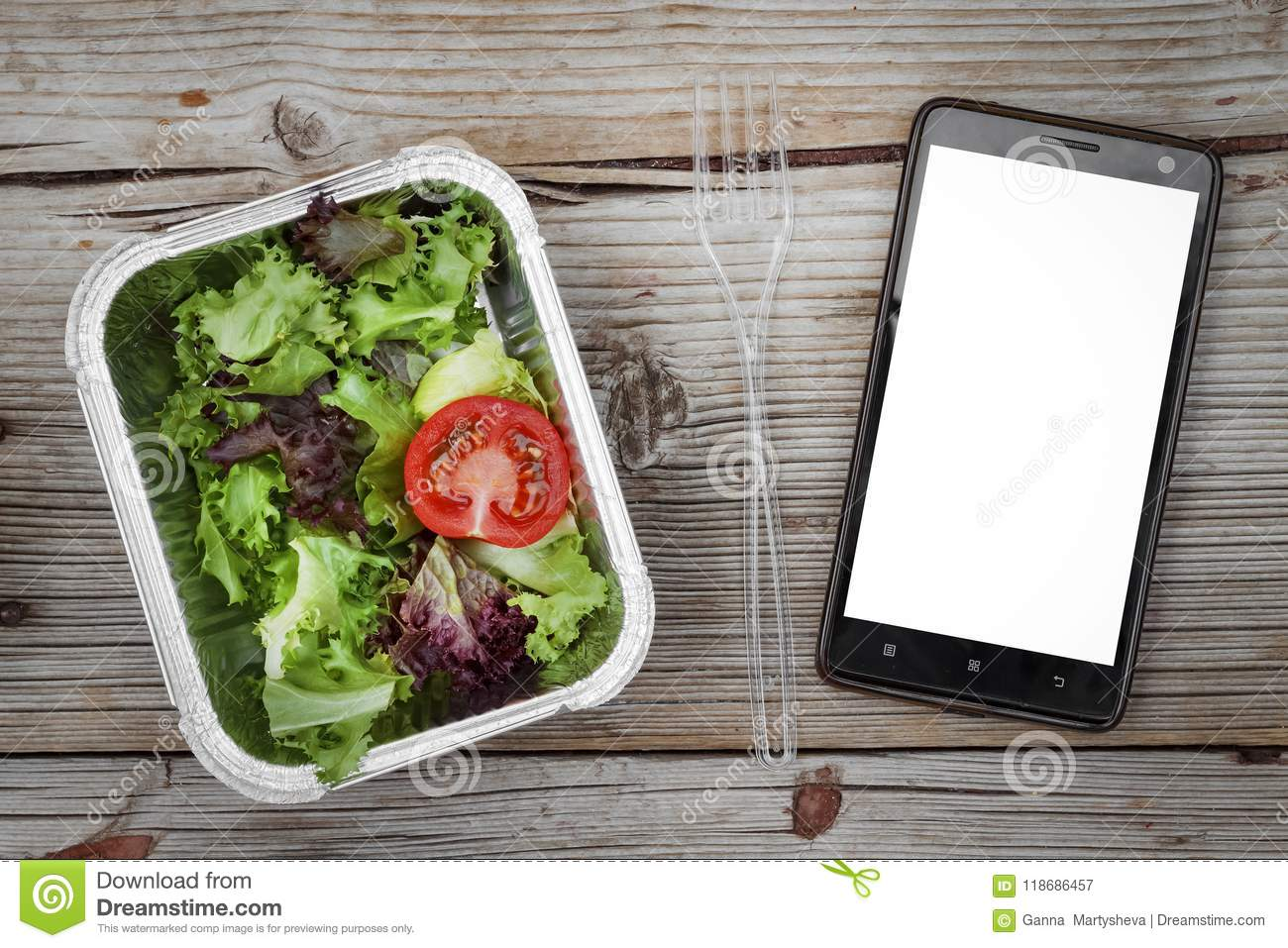 Healthy Food Delivery Natural Organic Low Carb Diet Concept Eat
