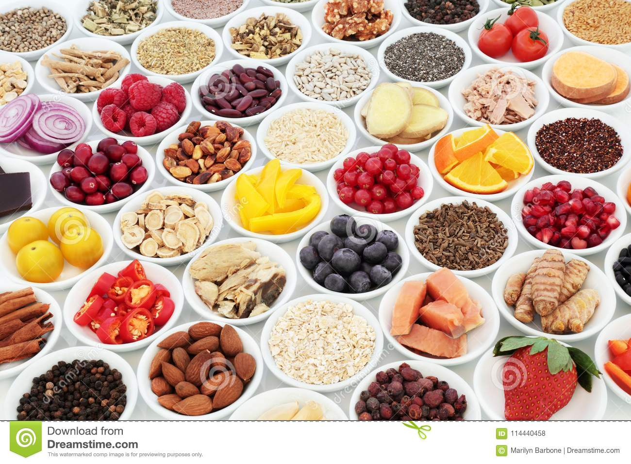Healthy Food For Good Heart Health Stock Photo Image Of Flat Eating 114440458