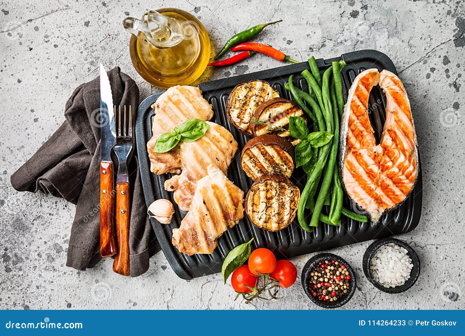 Healthy grill food