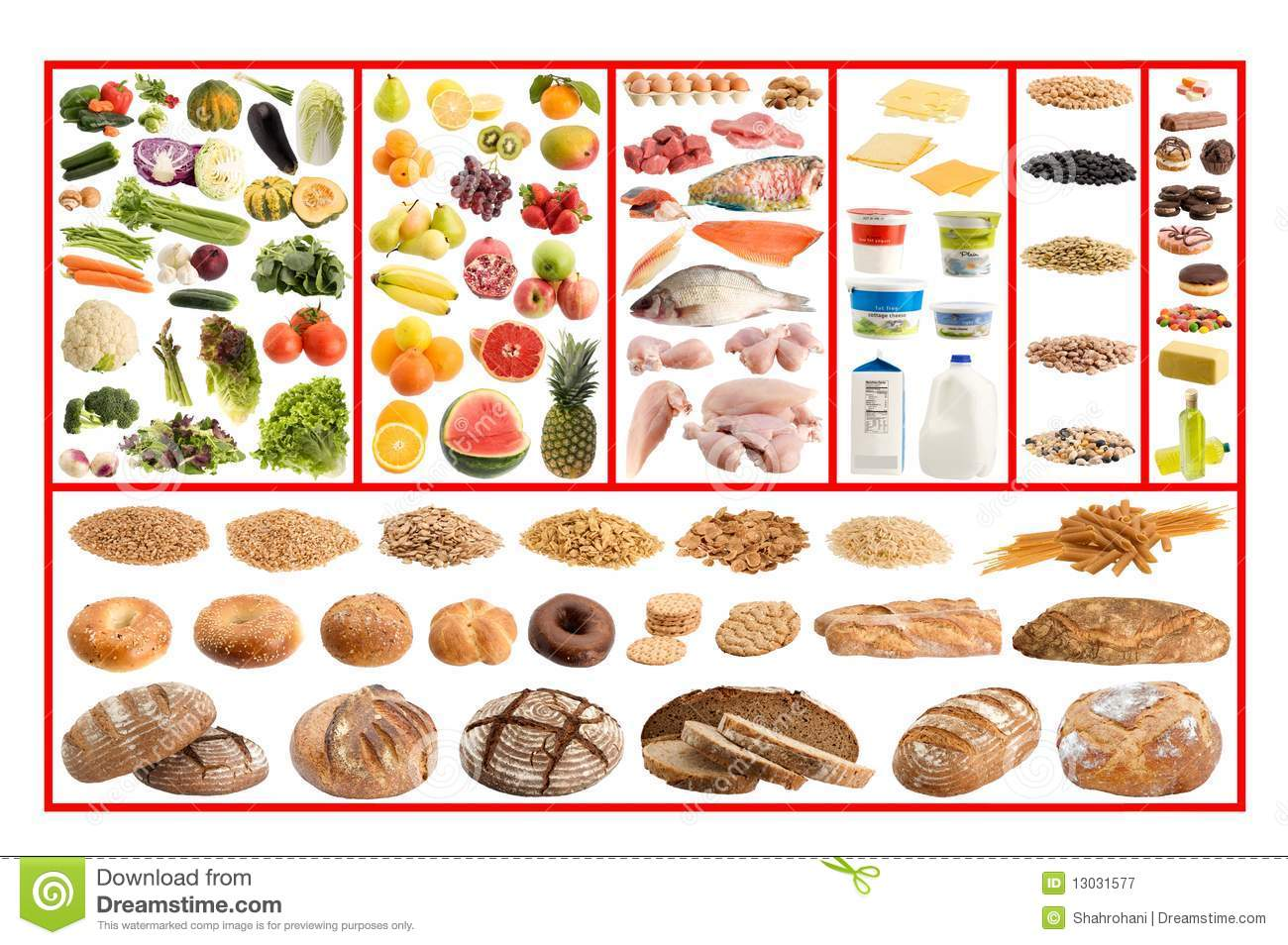 Healthy Food Guide Royalty Free Stock Photography Image