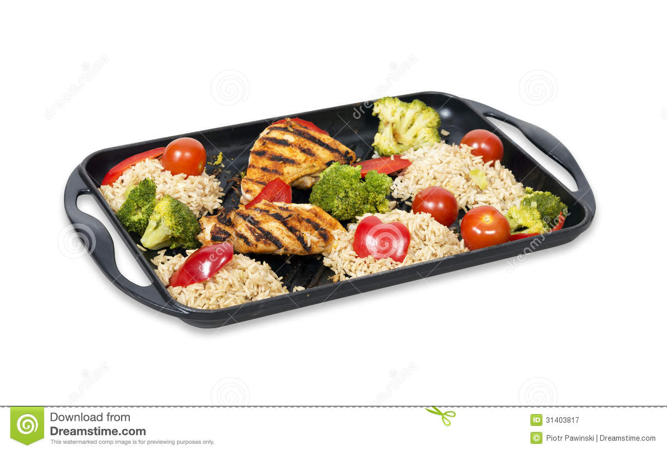 Low fat chicken and rice