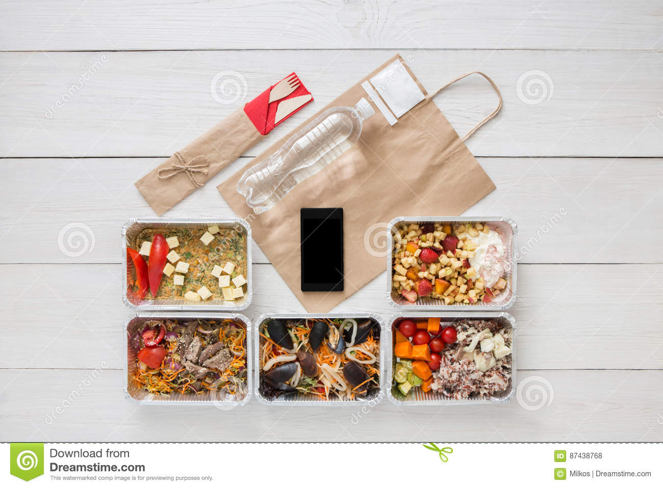 Can i buy healthy food online - Healthy Food Online Order In Boxes Top View At Wood