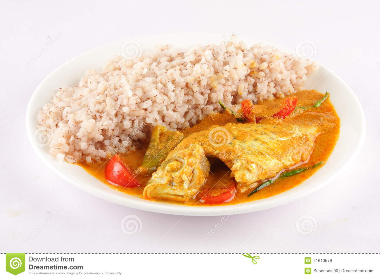Healthy food plate fish and rice stock image image for Healthiest white fish
