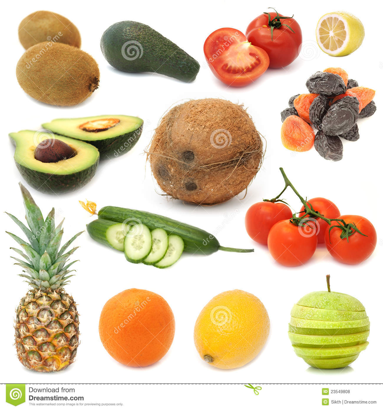 green fruits most healthy vegetables and fruits