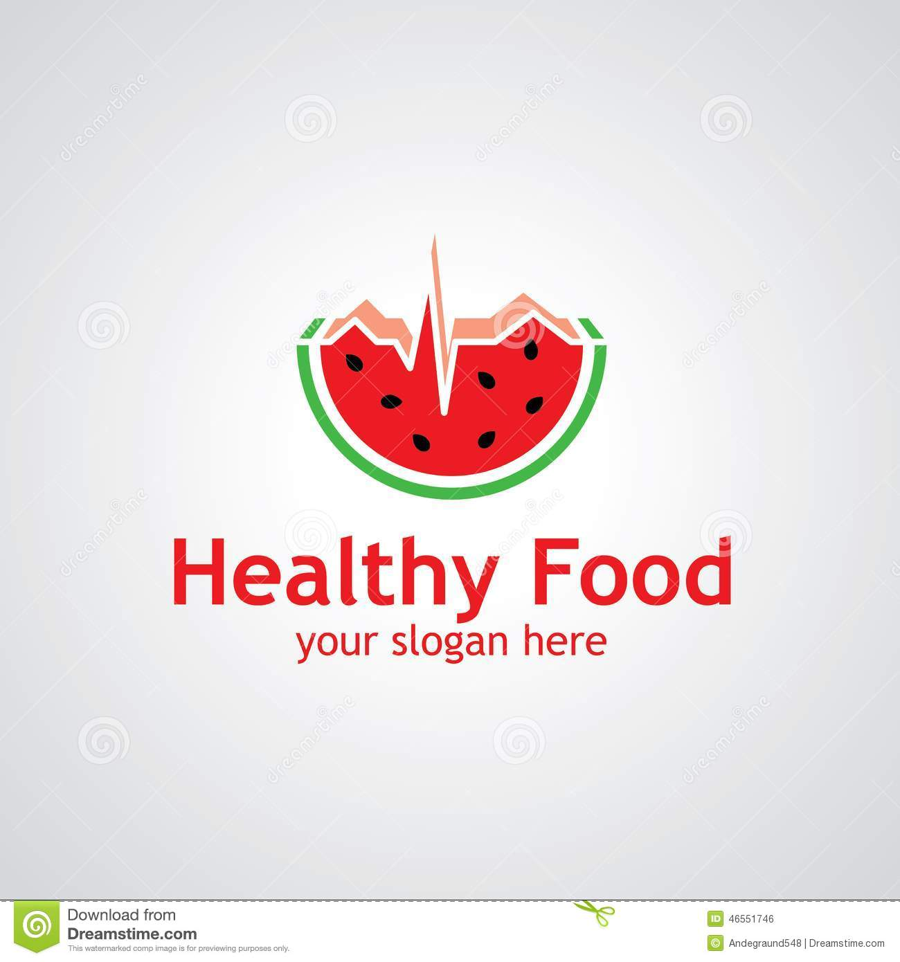 Watermelon as cardiogram vector logo design, icon idea for food or ...