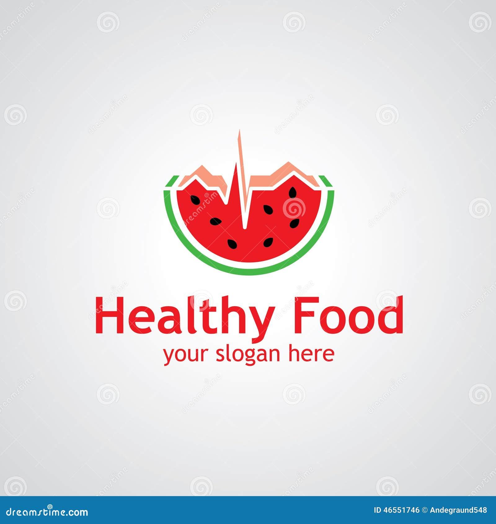 Watermelon as cardiogram vector logo design, icon idea for food or ...