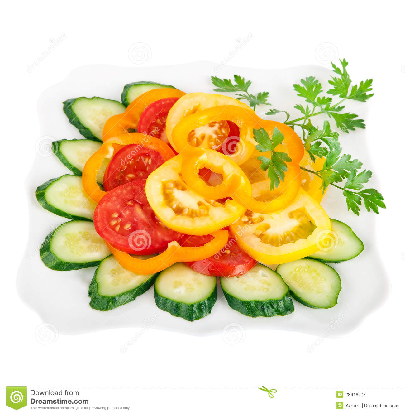 A Healthy Food Vegetable Salad Royalty Free Stock Photos ...