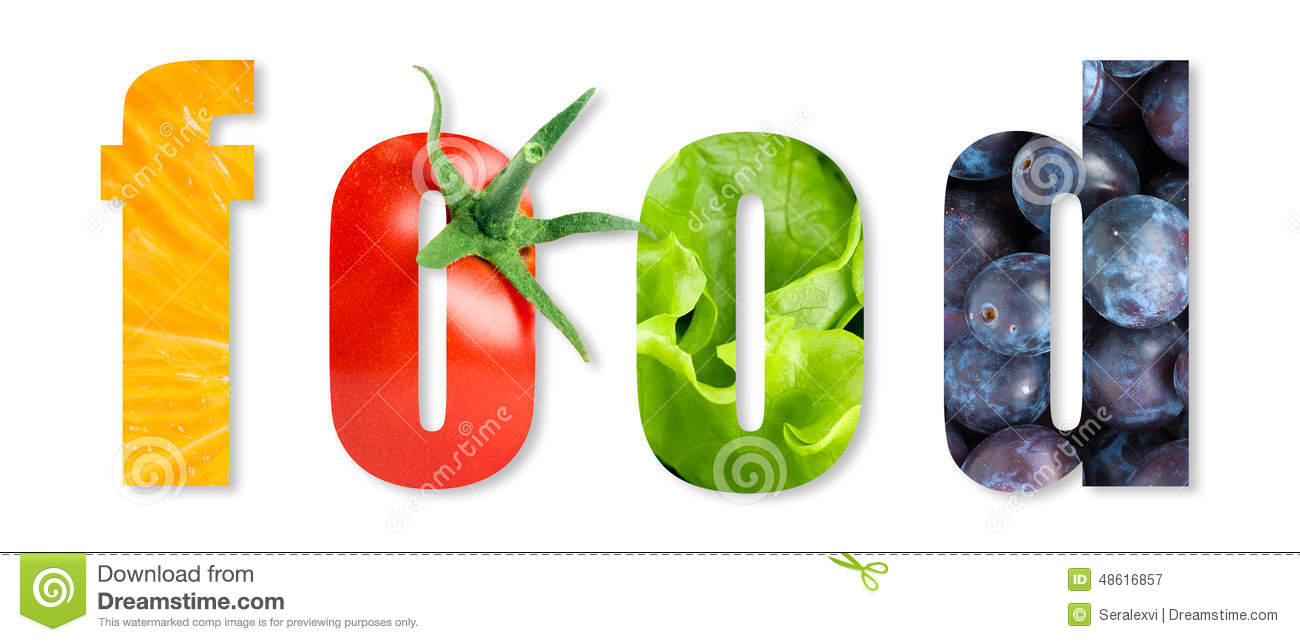 Healthy food word stock image image of green white for Cuisine words