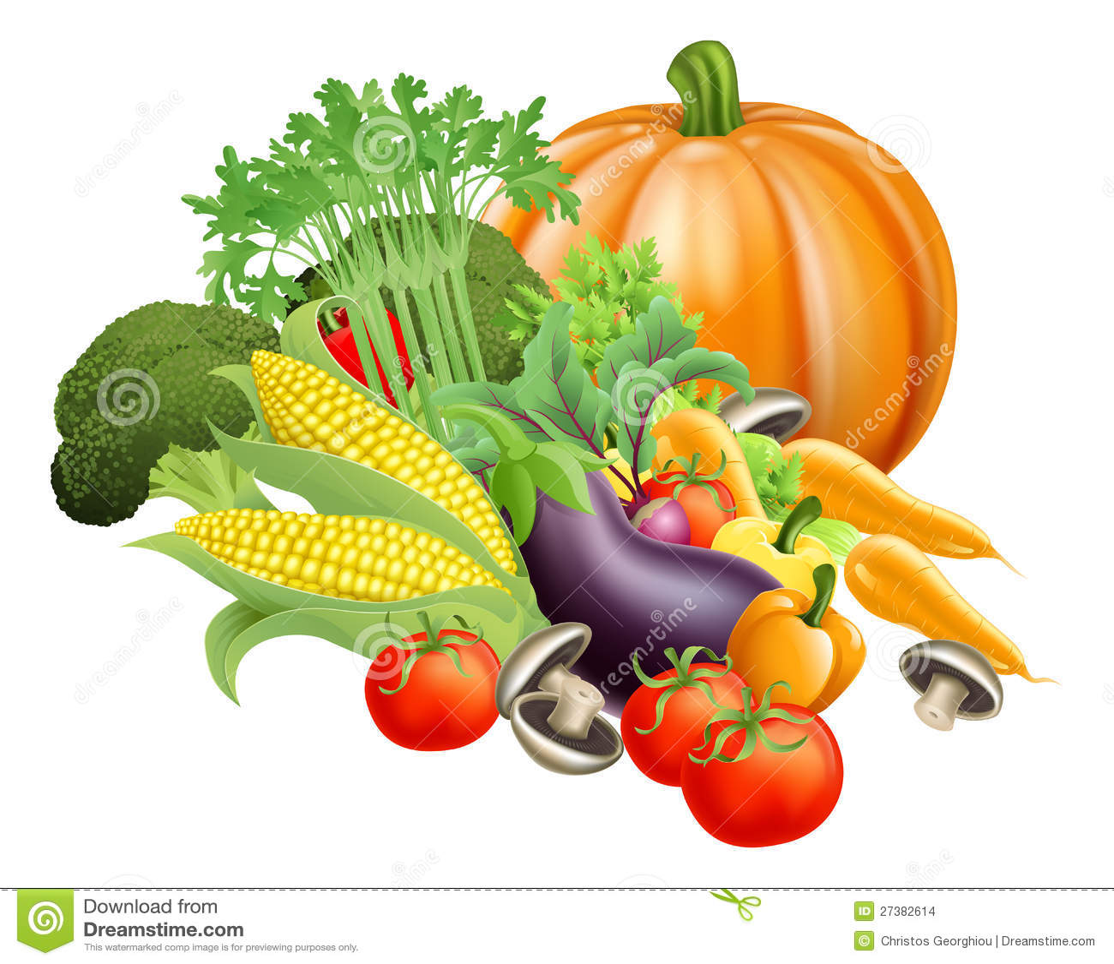 de772e14435 Illustration of produce assortment of healthy fresh vegetables. Designers  ...