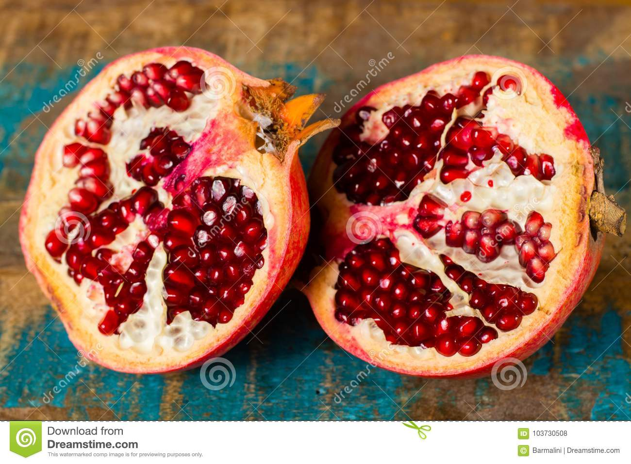 healthy fruit red ripe pomegranate rich of vitamin c also know