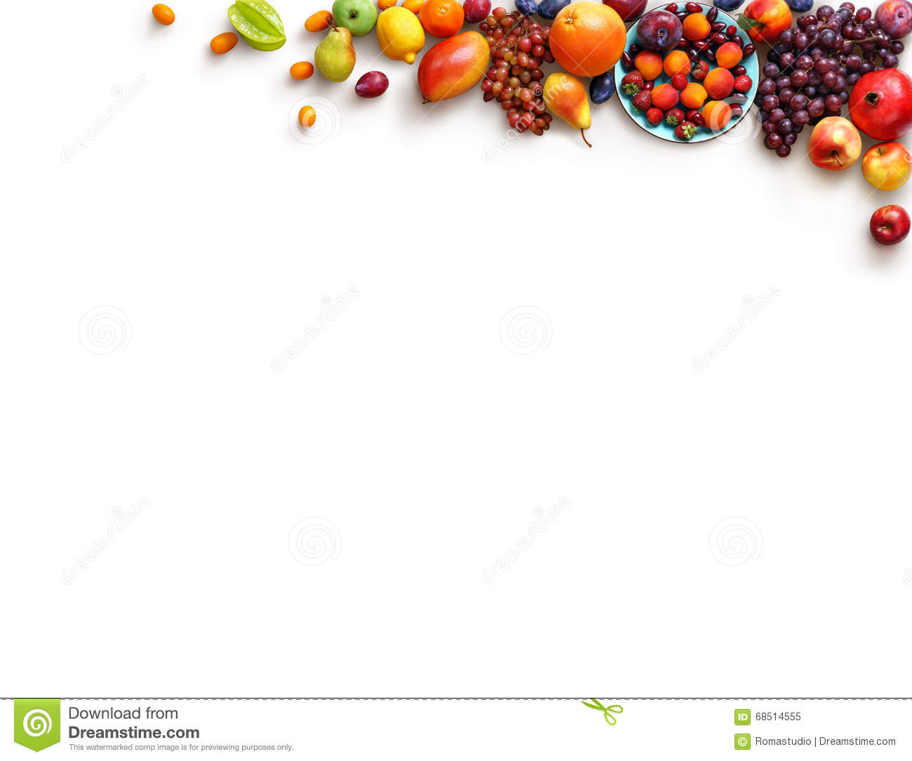 Healthy fruits background. Studio photo of different fruits.