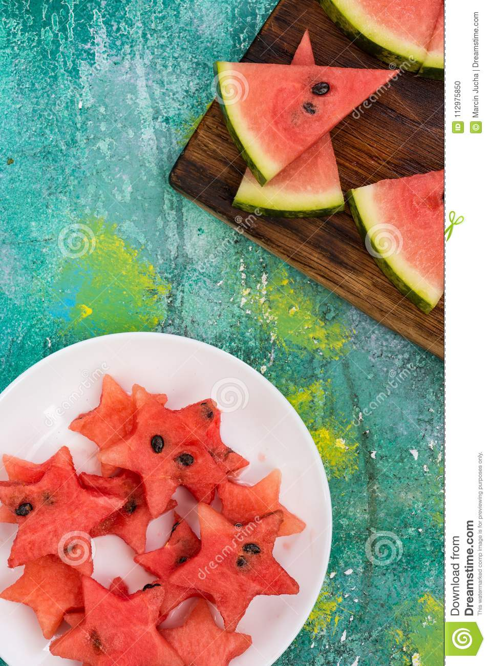 Healthy fruits food for kids garden party