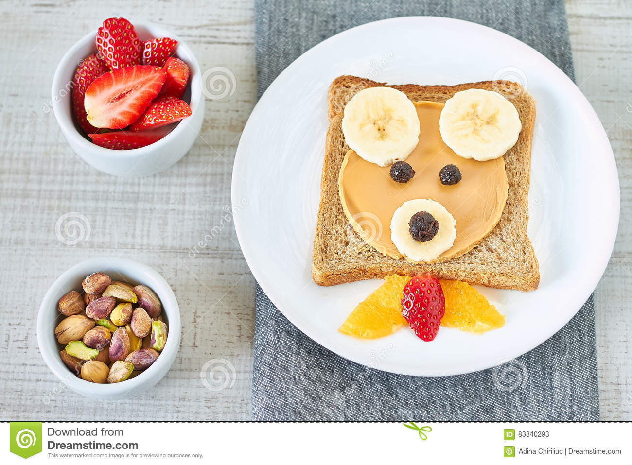 Healthy And Fun Snack For Kids Stock Image - Image of banana
