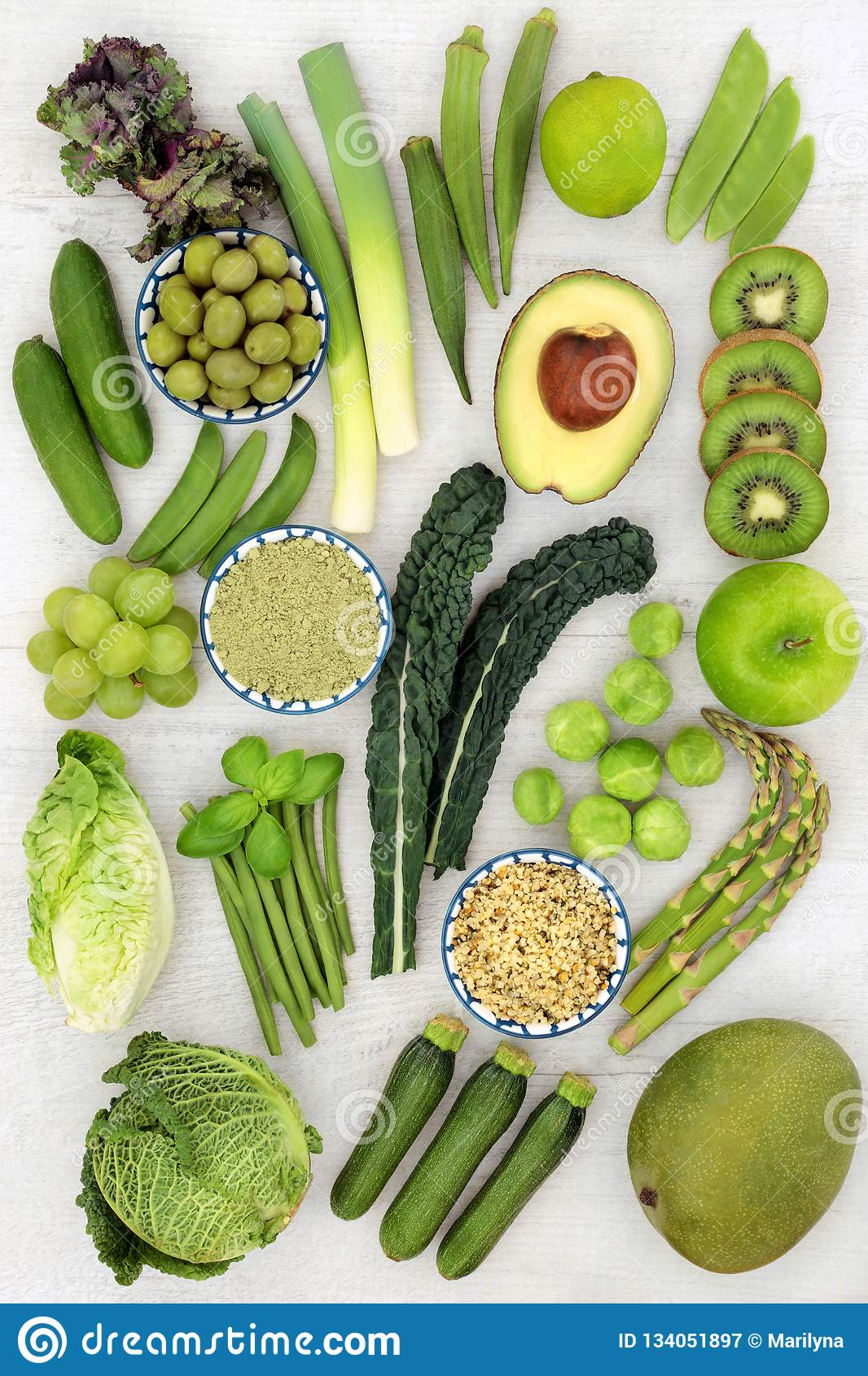 Healthy Green Fruit and Vegetables