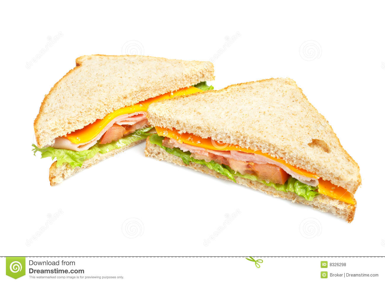 Healthy Ham Sandwich Royalty Free Stock Photos - Image ...