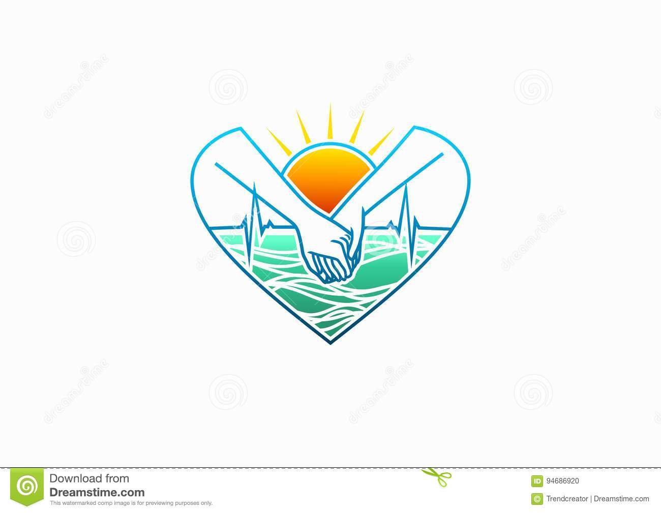 Healthy Heart Logo Cardiologist Icon Natural Care Love Symbol Hearbeat Care Medical Surgeon And Healthy Life Concept Design Stock Vector Illustration Of Heart Family 94686920