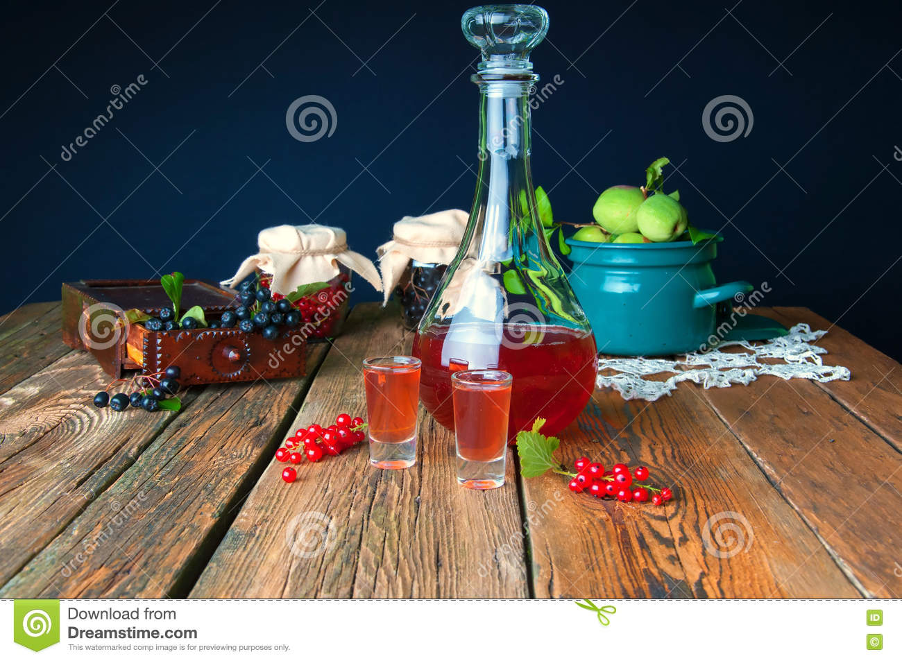 Healthy homemade red currant tincture