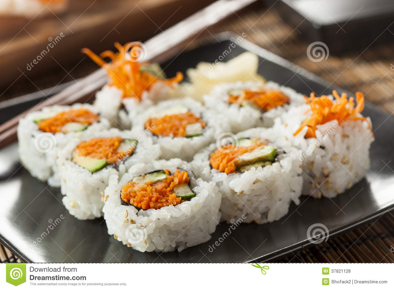 Healthy Japanese Vegetable Maki Sushi Roll Royalty Free Stock Photos ...